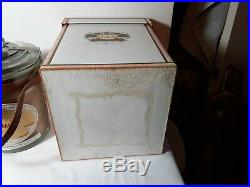 Mint in box H Upmann Glass Cigar Humidor Canister Office Jar Vintage Cameroon 25