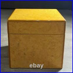 New LUBINSKI humidor Burl Wood 10.3 10.3 x 10.3 cm ITALY