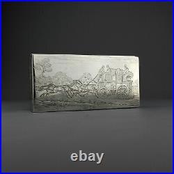 Novelty Solid Sterling Silver Cigar/Cigarette Box/Humidor. Bath Royal Mail. 1884