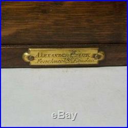 Oak 3-Compartment Cigarette / Cigar Box, Fitted Interior, c. 1900