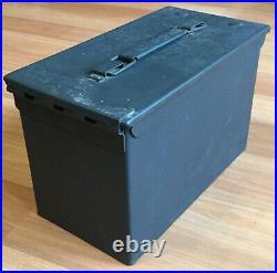 Old Vtg He-man Humidor Metal Ammo Can Ammunition Box Cigar Tobacco Cedar Lined