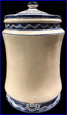 On Sale! Antique 1920 Partagas Talavera Blue Cigar Havana Humidor Jar
