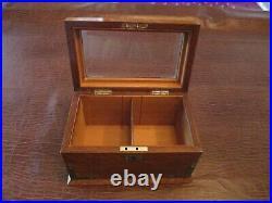 Outstanding English Cigar Box Humidor With Glass Lid No name