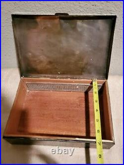 Poole Silver Wood Cigar Box humidor engraved Spring Brook golf approx 10 × 7