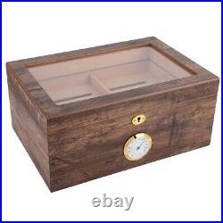 Portable Travel Cigar Humidor Cedar Wood Cigar Case Box Large Capacity