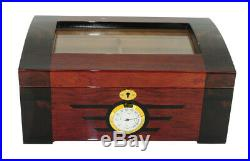 Quality 100+ CT Count Cigar Humidor Humidifier Wooden Case Box Hygrometer w