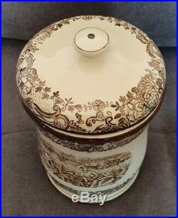 RARE Antique HUMIDOR PICKMAN SEVILLA PARTAGAS PORCELAIN BOX 1930s Empty