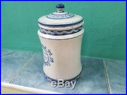 RARE Antique HUMIDOR PICKMAN TALAVERA PARTAGAS PORCELAIN BOX 1930s Empty BLUE