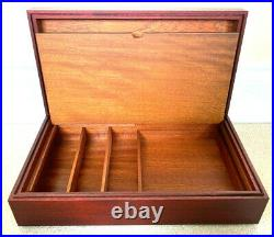 RARE BN/UNUSED ZENITH CIGAR BOX/HUMIDOR CHERRY with HUMISTAT FIXED INTO LID