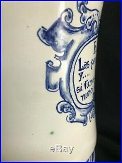 REPRODUCTION 2015 PARTAGAS Tobacco PORCELAIN Blue CIGAR Havana HUMIDOR JAR Cuba