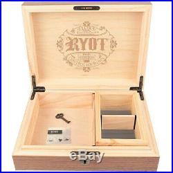 RYOT Humidor Combo Box 8x11 with 4x7 Insert Box Walnut FAST SHIPPING