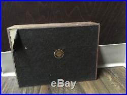 Rare 1920-30s Art Deco Antique Decatur Walnut Wood Cigar Humidor Box Art