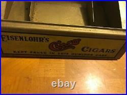 Rare Antique Eisenlohr's Cinco Cigar General Store Humidor Display Case