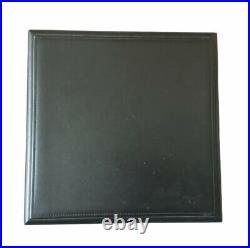Rare Luxury Davidoff Travel Desktop Office Black Leather Cigar Humidor / Box