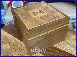 Rare unique david linley for alfred dunhill cigar humidor and jewellery box +KEY