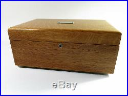 Restored & Repurposed Antique Solid Tiger Oak Cigar Humidor Fully Felt Lined