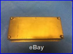 Robbins Co 1888 Boston Jewelers Club Humidor Box. Bronze. Cedar Lined. 9 X 4