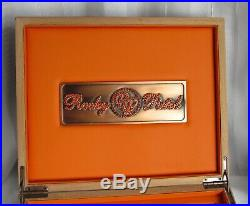 Rocky Patel Cigar Box Humidor Top Of The Line Design & Craft Laquer, Copper &