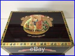 Romeo Y Julieta 125th Anniversary lacquered Humidor Box 16 x 11 1/2 x 7 1/2 H