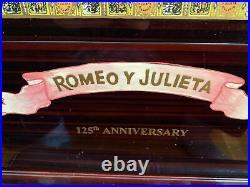 Romeo and Julieta 125th anniversary cigar humidor 453/2000