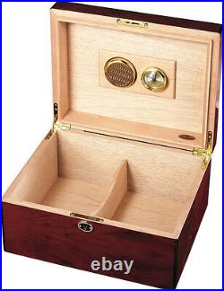 Rosendale Rosewood Cigar Humidor Holds 50 Cigars, New in Box