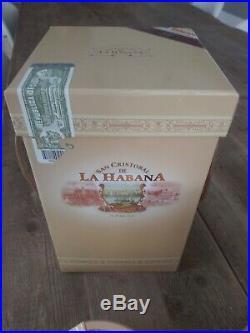 San Cristobal De La Habana Jar Humidor with ashtray