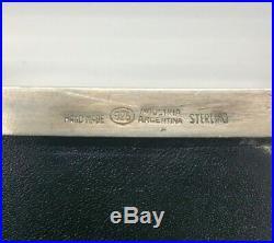 Sterling Silver 925 Cigar Box Humidor Los Prados 1973-1989 Argentina Industria
