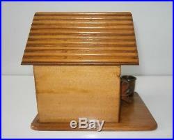 Superb Antique Dog Kennel Cigar Cheroot Caddy Humidor Original & Complete c1880