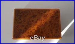 Superb Asprey Burr Walnut Cigar Box (Jewellery) Humidor Asprey Boxed Pristine