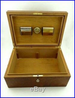 Superb Manning of Ireland Burl Burlwood Wooden Cigar Humidor Lock Box