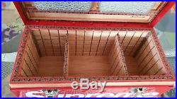 Supreme Diamond Plate Tool Box Red Logo Cigar Humidor x Karanabakos 150 Cigars