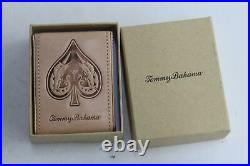 TOMMY BAHAMA Cigar Box withHumidor Lighter & Leather Playing Card Holder NEW