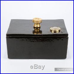 Taccini Tuscany Terracotta Art Cigar Humidor New In Box