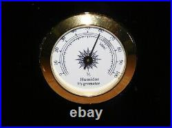 Tobacco 15 3/4 X 9 3/4 X 8 3/4 High Key Lock Cigar Humidor Hygrometer