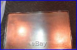 U. K. 1946 Richard Comyns Large 925 Sterling Silver Humidor-cigar Box 48.8 Tr Oz