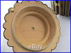 Unique Wood MAITLAND SMITH Hand Made CIGAR Box / Humidor BRASS Feet and Finial