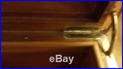 VTG Large Cigar DUNHILL HUMIDOR Box Made In France hygrometer Brass