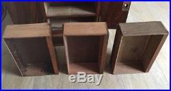 Victorian inlaid Walnut 3 drawer Cigar Humidor Cabinet. Victorian Humidor