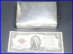 Vintage 900 Silver Casa Candela Chilean Cigarette Box Humidor Trinket -201g