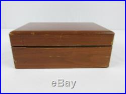 Vintage Alfred DUNHILL of London Wood Humidor Cigar Box Copper Lining Solid Wood