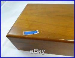 Vintage Alfred Dunhill London Solid American Walnut Wooden Humidor Box w Extras