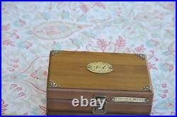 Vintage Benson & Hedges Solid Wood Travel Cigar Box Humidor 504