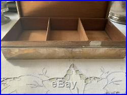 Vintage Birmingham Sterling Silver Cigarette/Cigar Humidor Box, 1902 law award