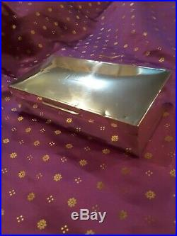 Vintage Birmingham Sterling Silver Cigarette/Cigar Humidor Box, 511grms 1920 era