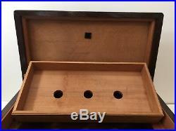Vintage Custom Handmade Large & Heavy Wooden Cigar Humidor Box, 20 x 11 x 10