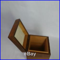 Vintage Decatur Industries USA Humidor Cigar Box Walnut Wood