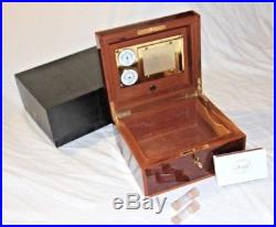Vintage Dunhill Burl Wood Humidity-Control, Cedar-lined Humidor Cigar Box