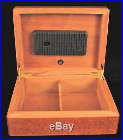 Vintage Dunhill Humidor Burl Wood Cigar Box Beautiful 11 Humidity Control