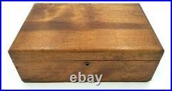 Vintage Genuine American Walnut Wood Cigar Box Tobacco Humidor Cannibus Box