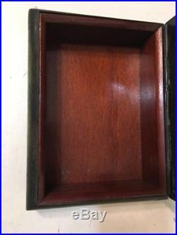 Vintage Green Patinated Bronze Cigar Box Desktop Trinket